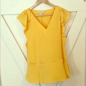 Nwot Michael Kors yellow top! 🌼